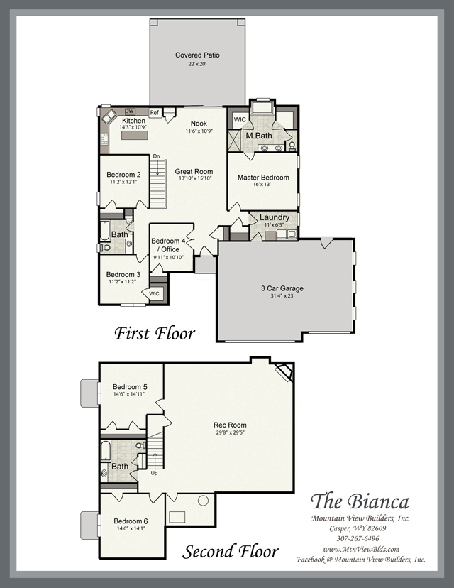 The bianca by mountain view builders for Mountain view floor plans