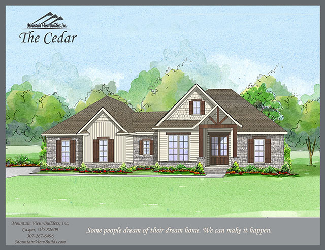 The Cedar by Mountain View Builders of Casper Wyoming
