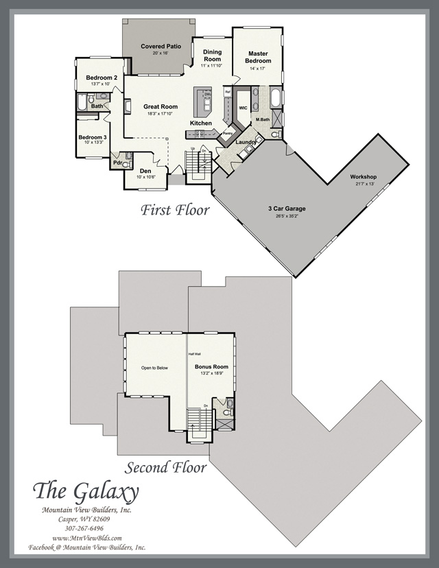 The Galaxy by Mountain View Builders of Casper Wyoming
