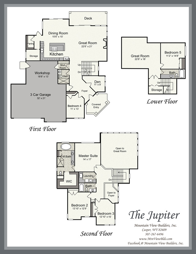 The jupiter by mountain view builders for Mountain view floor plans