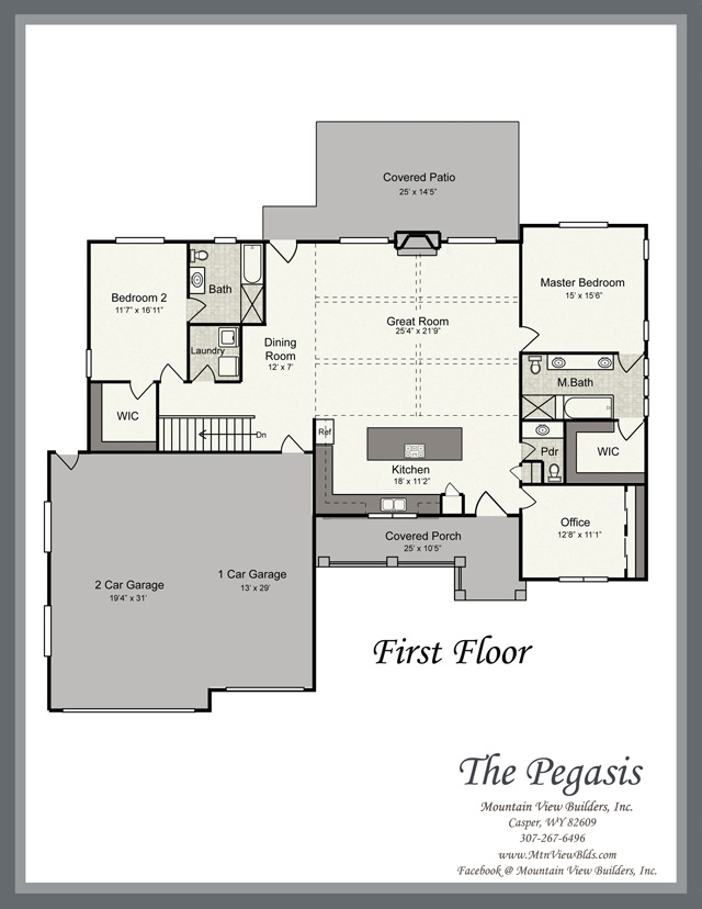 The pegasis by mountain view builders for Mountain view floor plans